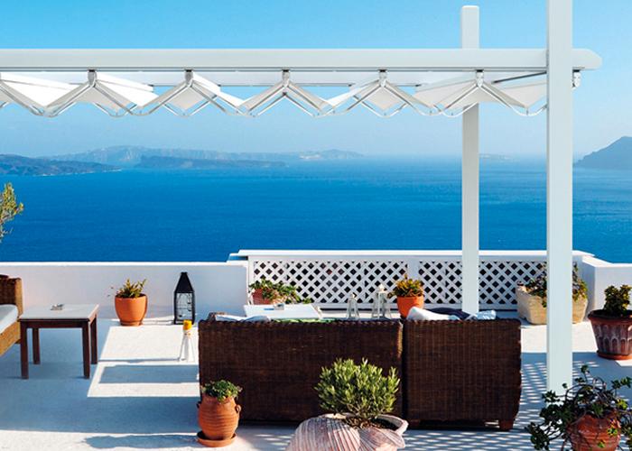 Art Deco Design | Copertura terrazzo | giardino | balcone | Tende ...