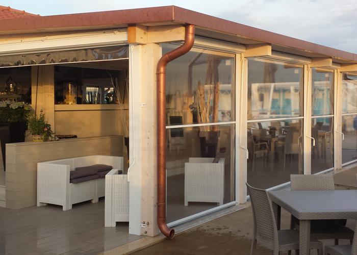 ... balcone  Tende Design  Pergotenda Roma  Copertura Vetro  Veranda
